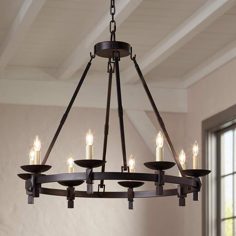 "Balsimo 30"" Wide 8-Light Spanish Traditional Chandelier"