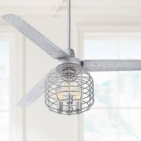 "60"" Turbina™ Galvanized Industrial Cage Ceiling Fan"