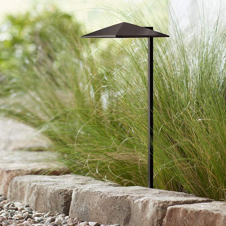 "Hinkley Harbor 21"" High Satin Black LED Landscape"