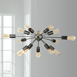 "Possini Euro Hemingson 33"" Wide 15-Light Sputnik Chandelier"