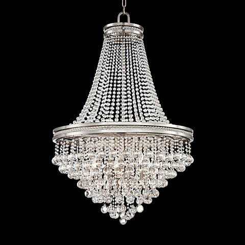 "Cherrie 29"" Wide Large Clear Crystal Chandelier"