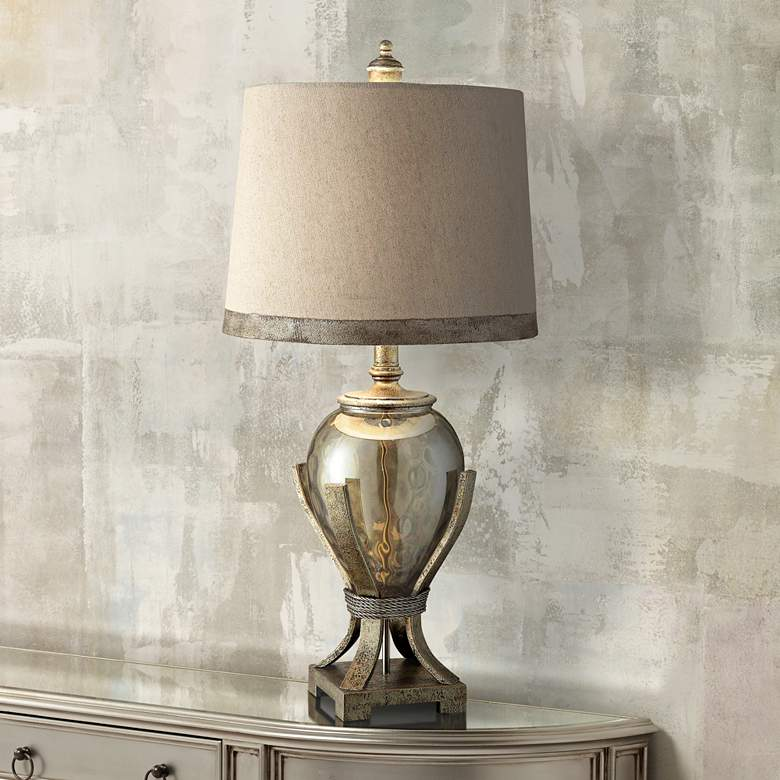 Crestview Collection Hawthorne Glass Amphora Table Lamp
