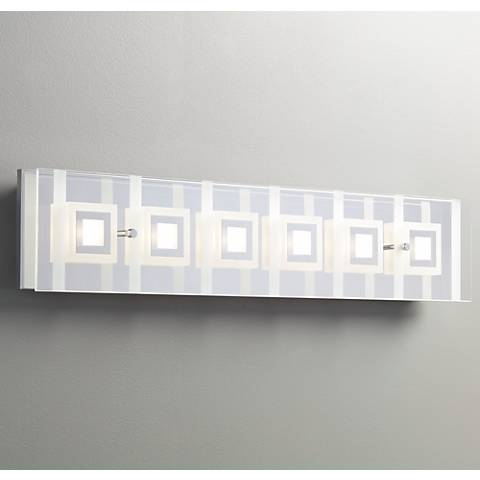 "Reese 28 1/4"" Wide 6-Light Glass LED Bath Light"