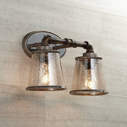 "Fillmore 14 1/4"" Wide Industrial Rust 2-Light Bath Light"