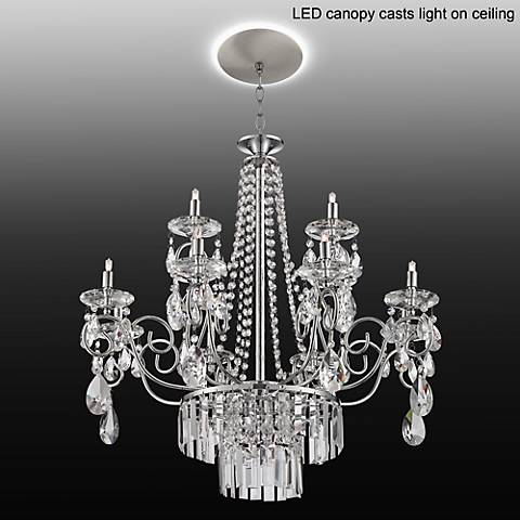 "Nobleton 28""W Crystal Chandelier with LED Canopy"