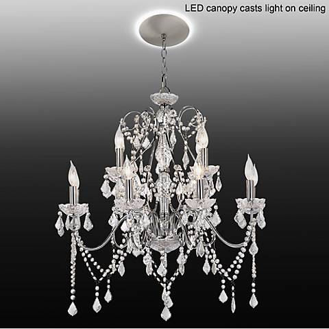 Vienna Full Spectrum Crystal Grand Chandelier with LED Canopy