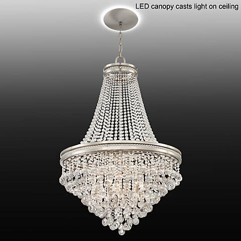 "Cherrie 29""W Large Crystal Chandelier with LED Canopy"