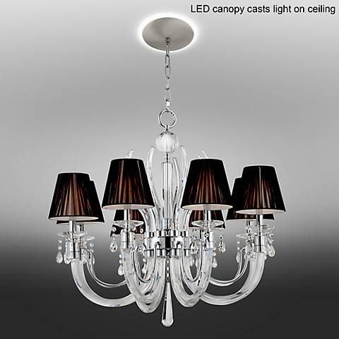 "Derry Street Crystal 32""W Black Chandelier with LED Canopy"