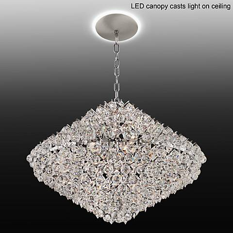 "Essa 31 1/2""W Crystal Pendant with LED Canopy"