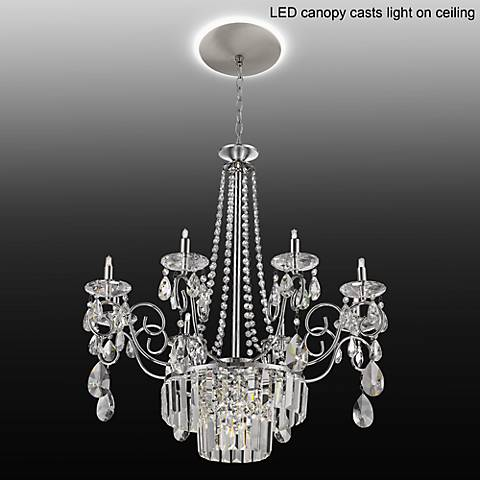 "Nobleton 27""W Crystal Chandelier with LED Canopy"
