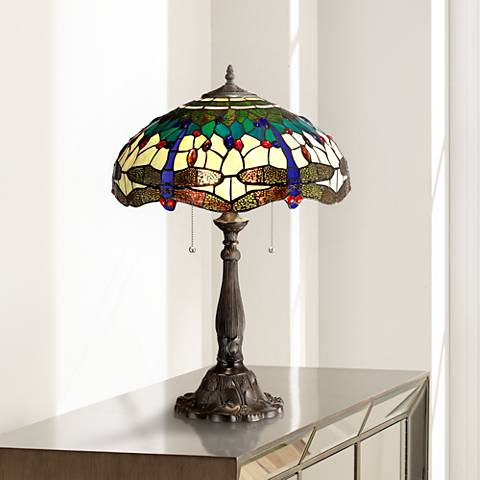 Robert Louis Tiffany Dragonfly Table Lamp