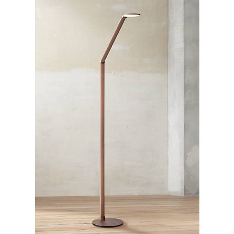 Possini Euro Magnum French Bronze Task LED Floor Lamp