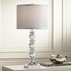 Mona Stacked Globes Crystal Table Lamp