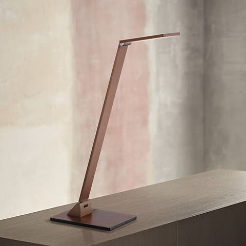 Possini Euro Bentley French Bronze LED Desk Lamp