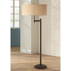 Possini Euro Parker II Light Blaster™ Floor Lamp Bronze