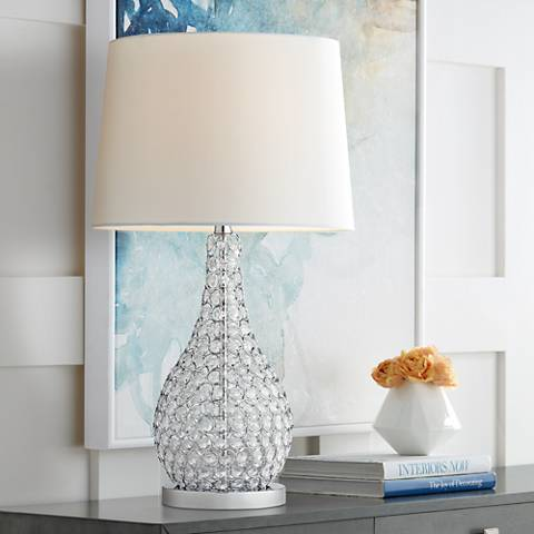 Possini Euro Kasey Crystal Beaded Gourd Table Lamp