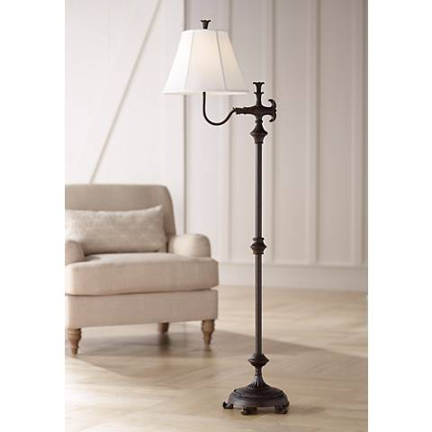 Hancock Traditional Bronze Floor Lamp