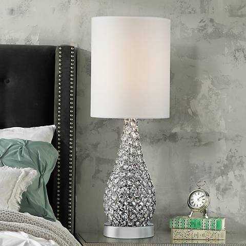 Leola Crystal Bead Gourd Table Lamp