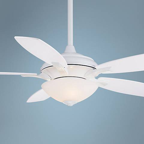 "52"" Minka Aire Hilo White Ceiling Fan"