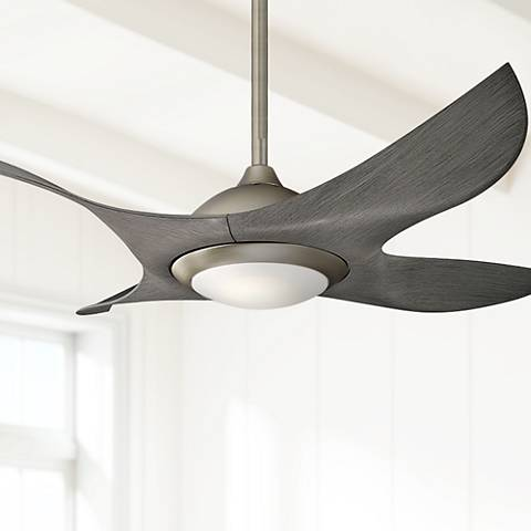 "52"" Kichler Shuriken LED Brushed Nickel Ceiling Fan"