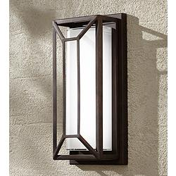 "Radcliffe 12"" High Bronze Finish LED Outdoor Wall Light"