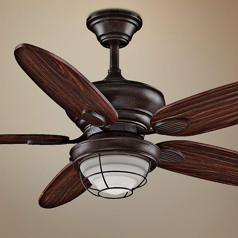 "52"" Fanimation Kaya Wet Location Ceiling Fan"