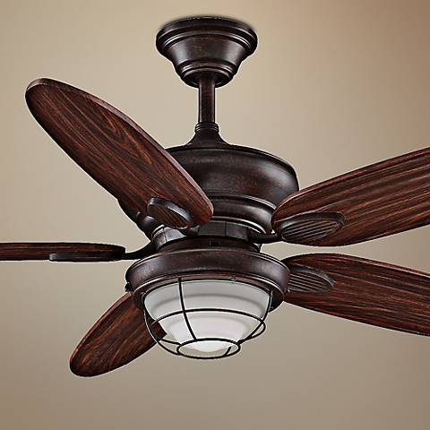 Concord transitional ceiling fans lamps plus 52 fanimation kaya wet location ceiling fan aloadofball Image collections