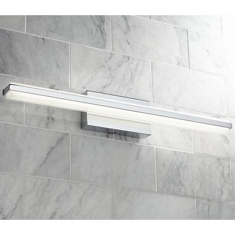 bathroom down lighting possini eloe chrome 31 1 4 quot wide linear led bath 10544