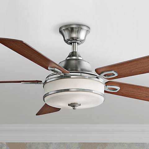 "52"" Fanimation Stafford Brushed Nickel Ceiling Fan"