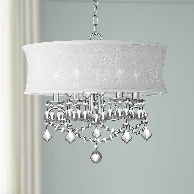 "New Castle 20"" Wide Brushed Nickel Chandelier"