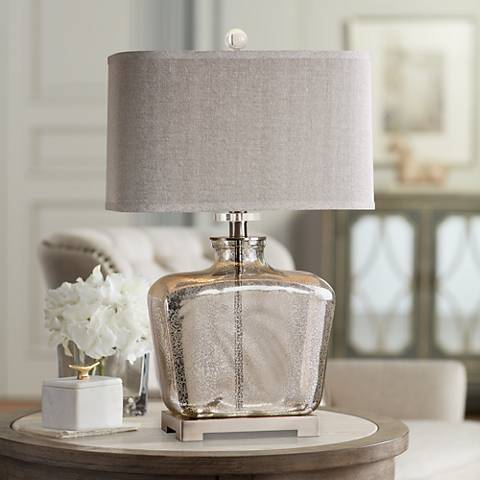 Uttermost Molinara Mercury Glass Jug Table Lamp