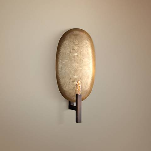 "Arteriors Home Sahara 20"" High Brass and Bronze Wall Sconce"