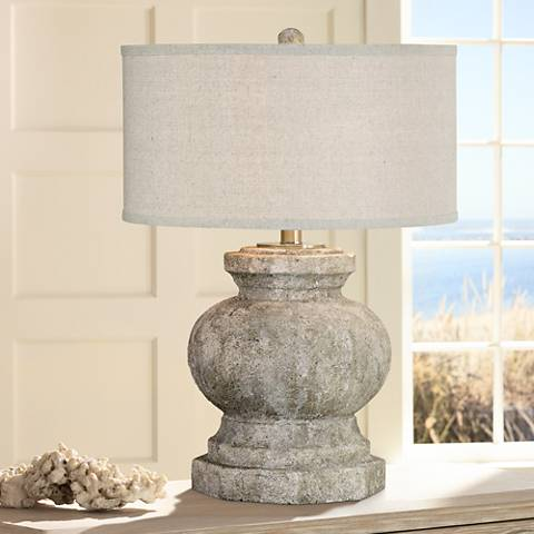 Uttermost Verdello Antiqued Stone Ceramic Table Lamp