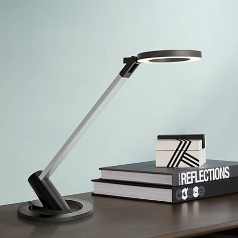 Lite Source Galaxy Black and Silver LED Desk Lamp