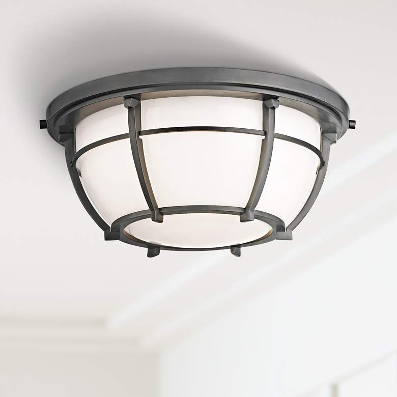 "Hudson Valley Conrad 11 3/4""W Old Bronze Ceiling"