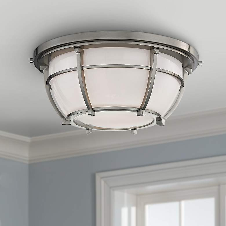 "Hudson Valley Conrad 11 3/4""W Satin Nickel Ceiling"