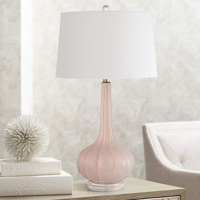 Abbey Lane Pastel Pink Ceramic Table Lamp