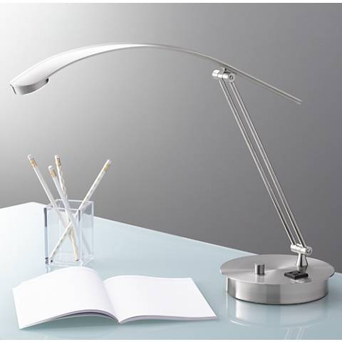 Flight LED Desk Lamp with Outlet