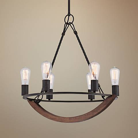 "Quoizel Anchor 22 1/2"" Wide Imperial Bronze Chandelier"