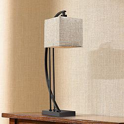 Bronze Metal Arched Desk Lamp