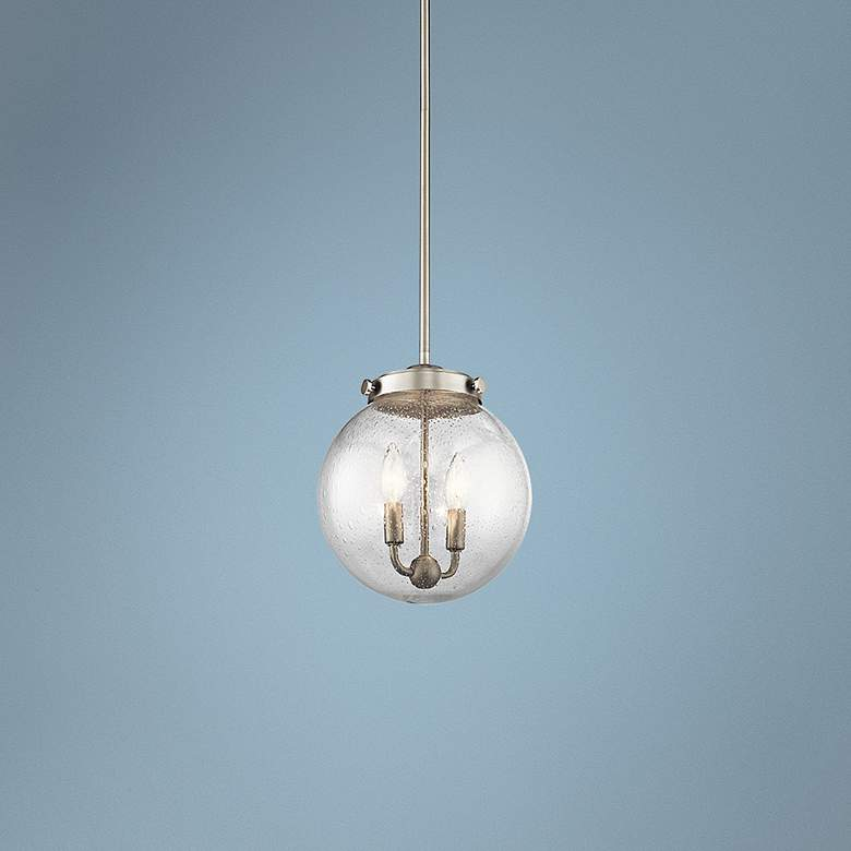"Kichler Holbrook 10""W Brushed Nickel 2-Light Mini Pendant"