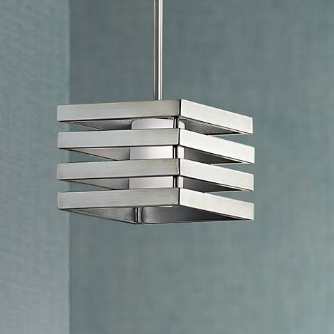"Kichler Realta 12""W Brushed Nickel Mini Pendant"