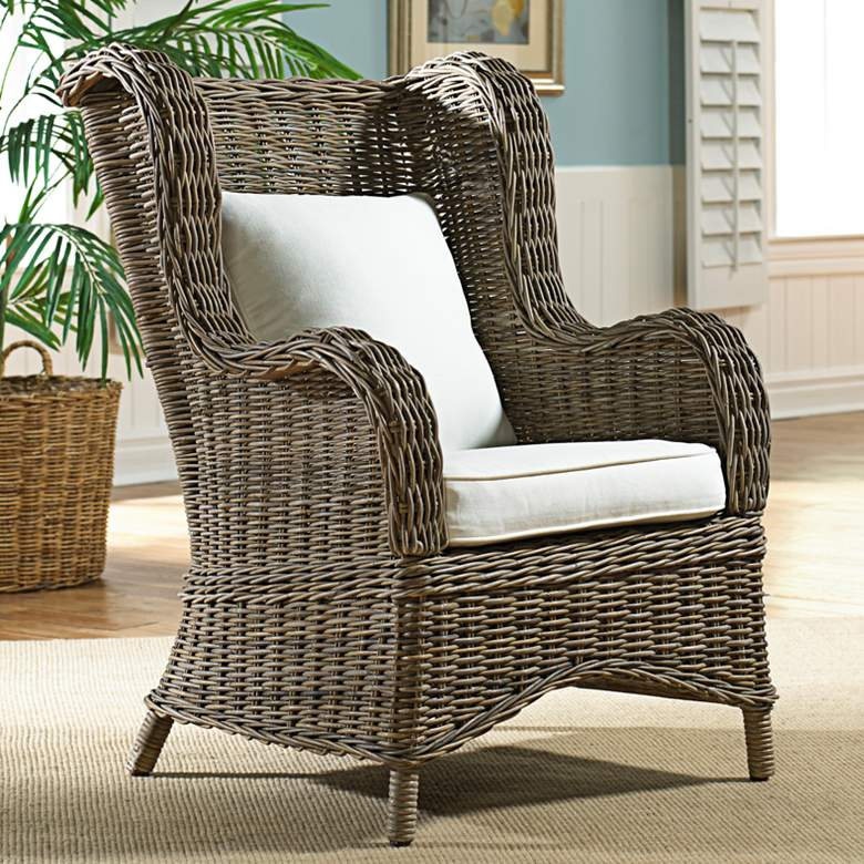 Panama Jack Exuma Kubu Gray Wicker Occasional Chair