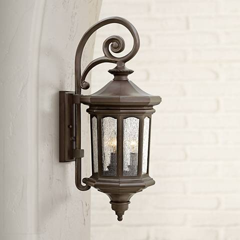 "Hinkley Raley 25.5""H Oil-Rubbed Bronze Outdoor Wall Light"