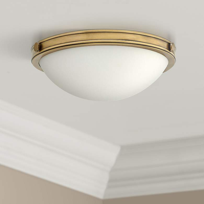 "Hinkley Foyer Maxwell 13 3/4""W Heritage Brass Ceiling"