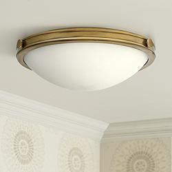 "Hinkley Foyer Maxwell 19""W Heritage Brass Ceiling Light"