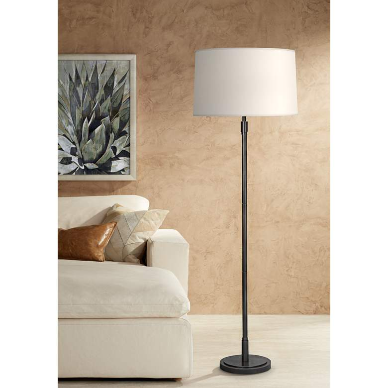 Robert Abbey Bandit Deep Patina Bronze Floor Lamp