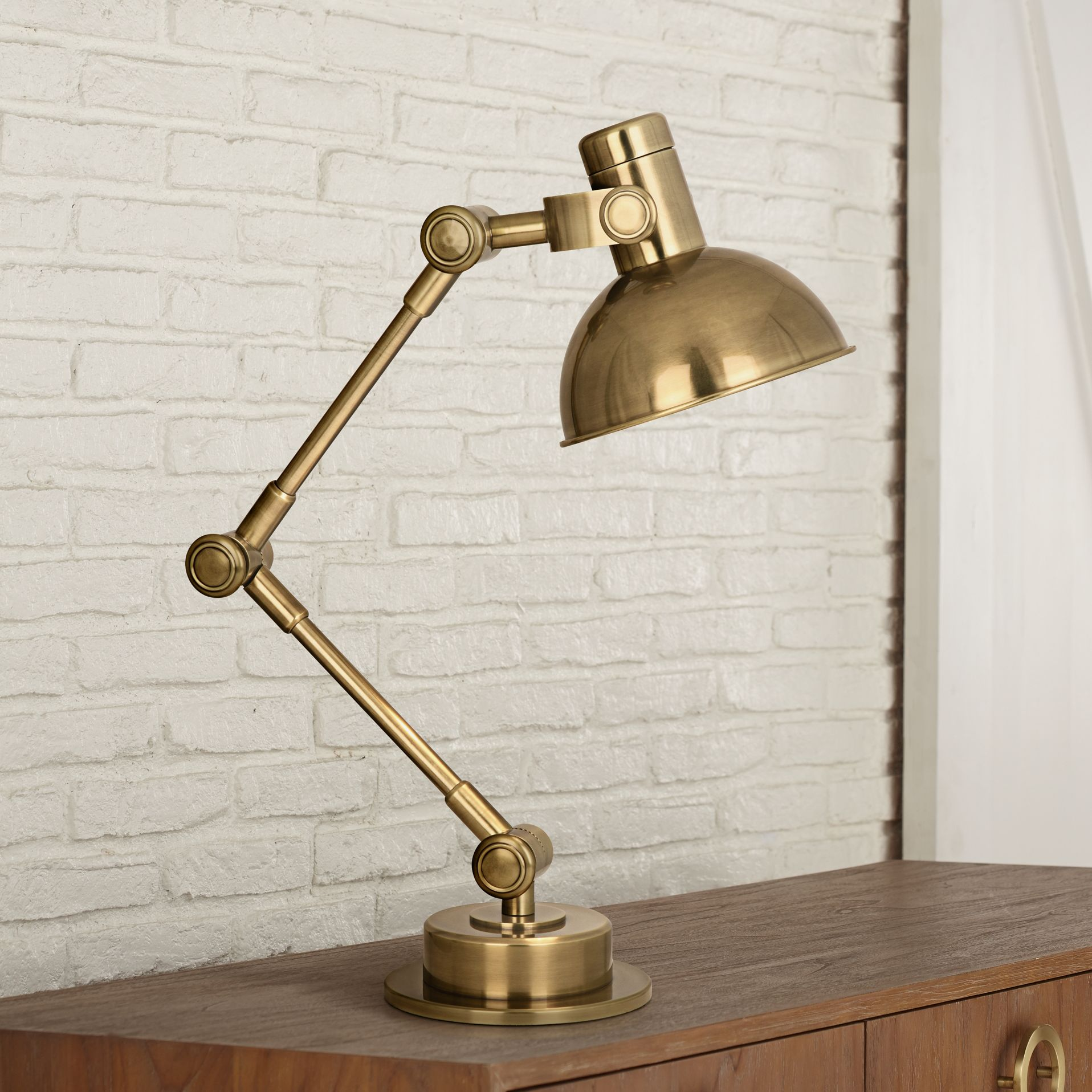 Robert Abbey Scout Antique Brass Desk Lamp