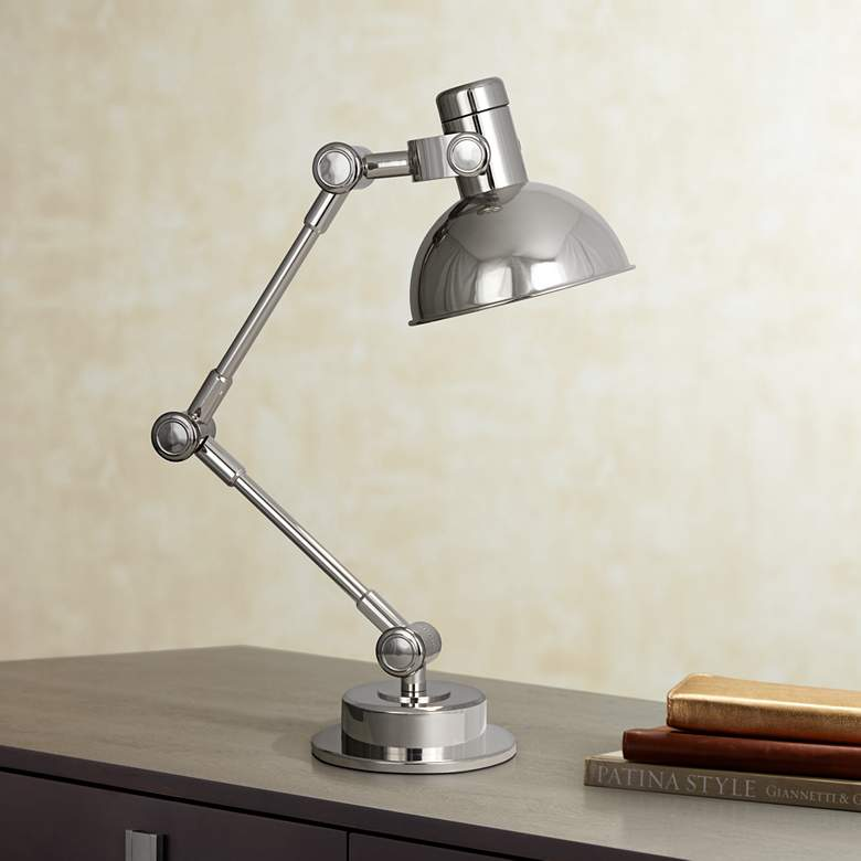 Robert Abbey Scout Polished Nickel Adjustable Desk Lamp
