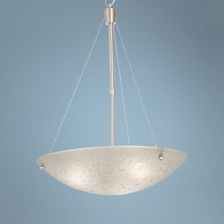 "Cirrus Satin Nickel 20"" Wide 3-Light Pendant"
